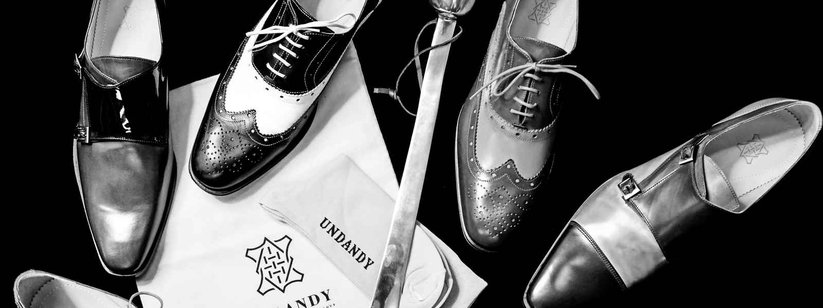 Undandy shoes flatlay at Fox Tailoring Bournemouth