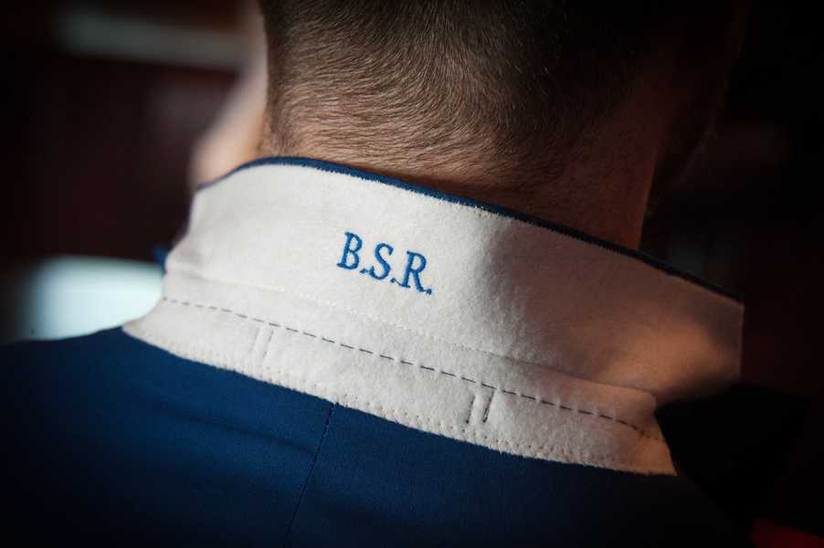 BSR Embroidered Suit Collar Detail
