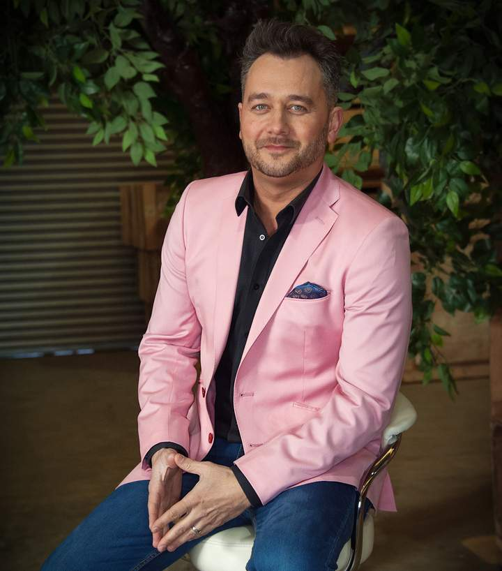 Pink Tailored Sports Jacket